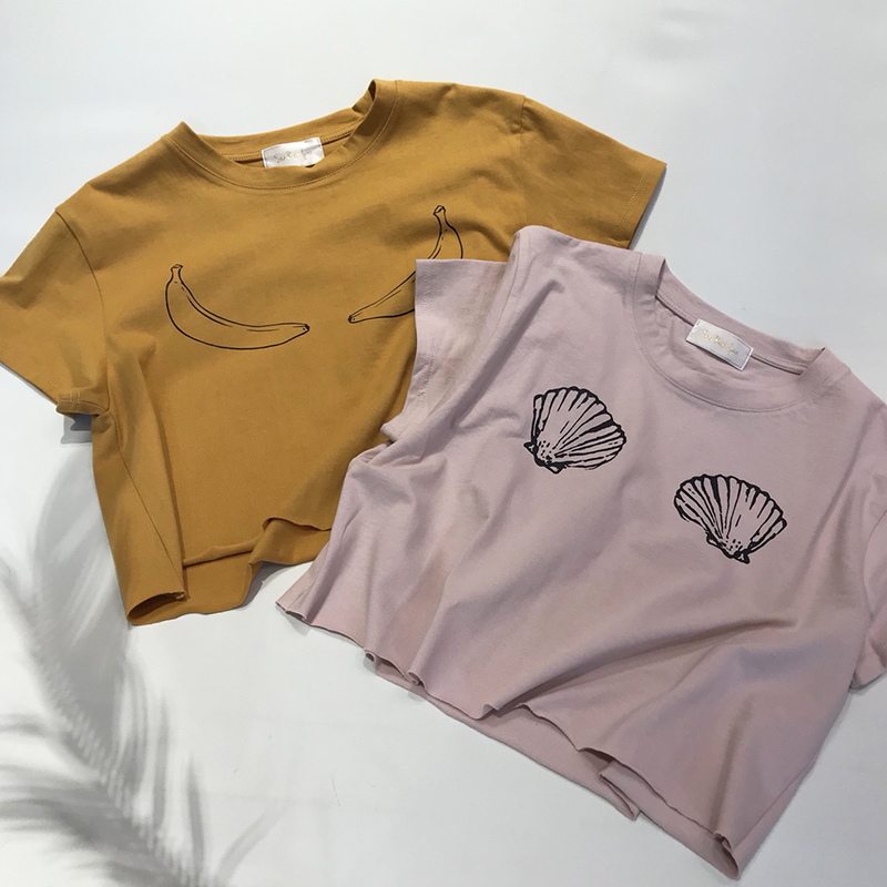 Variation print Tシャツ(シェルピンク, FREE)