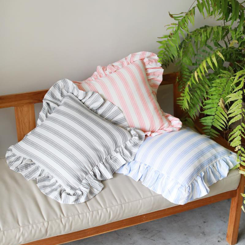 STRIPECUSHIONCOVER(ブラック, 450×450)